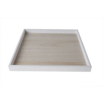 Cosy @ Home Plate Frame  Weiss Holz 30x30xh2.5cm