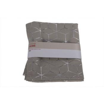 Cosy @ Home Tischlaufer Geometric Silver Grau 180x40