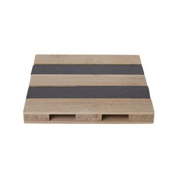 Cosy & Trendy Pallet Bambu-slate Square 20xh2.5cm