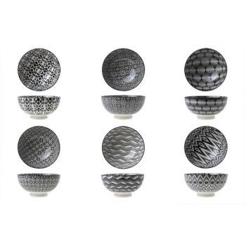 Cosy & Trendy Nikko Black Bowl D12.5xh6.5cm 6 Types