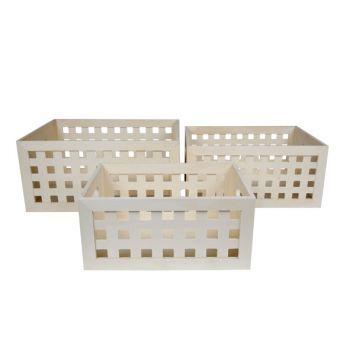 Cosy & Trendy Aufbewahrungbox Set3 Schicht Holz
