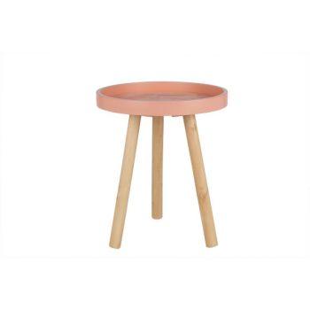 Cosy @ Home Tish Rund Holz Pink 30x30x36cm