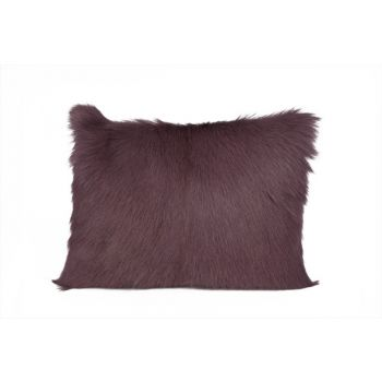 Cosy @ Home Cushion Fur Goat Prune 30x40cm