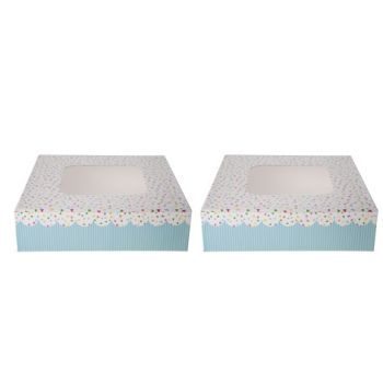 Cosy & Trendy Cake Box S2 Square 16x16cm Dotted