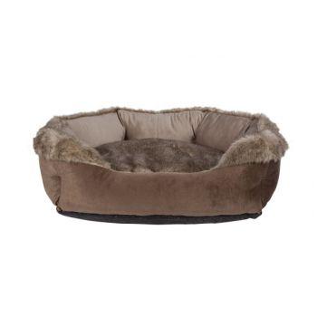 Cosy & Trendy Oblong Bolster Bed Braun 70x60x25cm