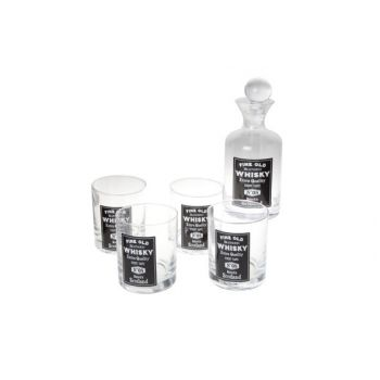 Cosy & Trendy Whiskeyglass X4 With Bottle  Set5 D8xh10