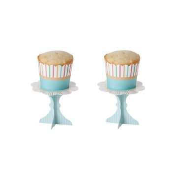 Cosy & Trendy Cake Cups S16 2 Types Lign-green 5x4.5cm