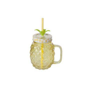 Cosy & Trendy Pine Apple Jar Gelb 12x9xh21cm