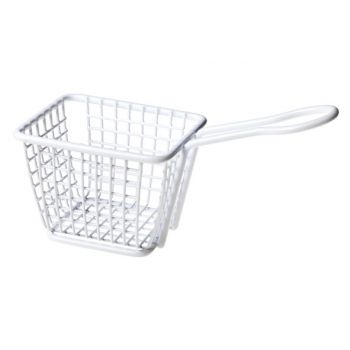Cosy & Trendy Fry Basket White Plated 10.3x7.8x7.8cm
