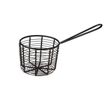 Cosy & Trendy Fry Basket Black D8.3xh8cm