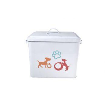 Cosy & Trendy Storage Jar Dog White W.decal 27x19x23cm