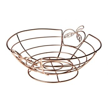 Cosy & Trendy Fruit Basket Copper Plated D26xh12.5cm