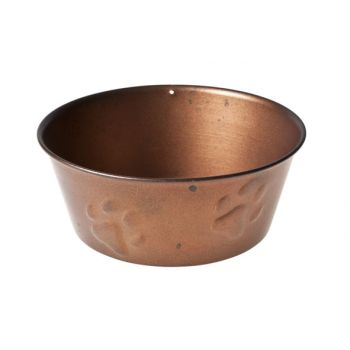 Cosy & Trendy Dogbowl Copper W Paw Embossing D15x6cm