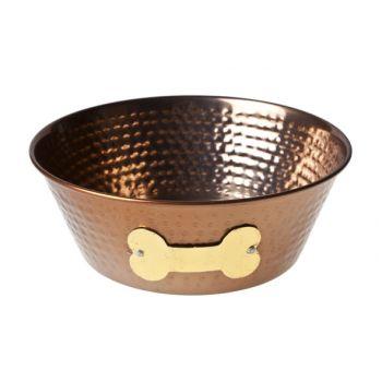 Cosy & Trendy Dogbowl Copper W D15xh6cm