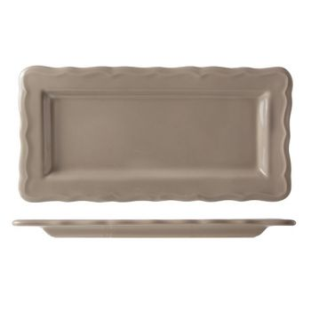 Cosy & Trendy Juliet Taupe Cake Plate Bright 30x15cm