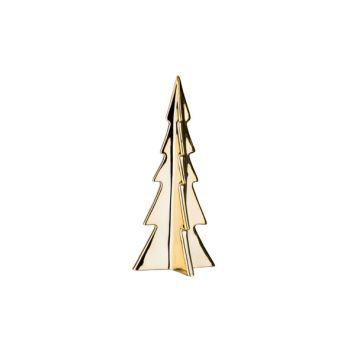 Cosy @ Home Weihnachtsbaum Gold Porzellan 11,2x11,2x