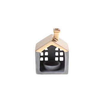 Cosy @ Home Teelichthalter Kupfer Matt Haus Keramik