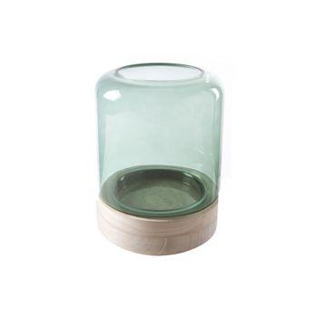 Cosy @ Home Windlicht Grun Zylindrisch Glas 18x18xh2