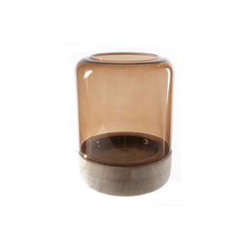 Cosy @ Home Windlicht Braun Zylindrisch Glas 18x18xh
