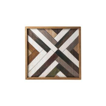 Cosy @ Home Tablett Natural Rechteck Holz 35,6x35,6x