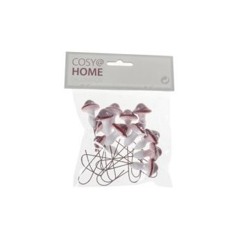 Cosy @ Home Stecker Pilz Set12 Rot Weiss Kunststoff