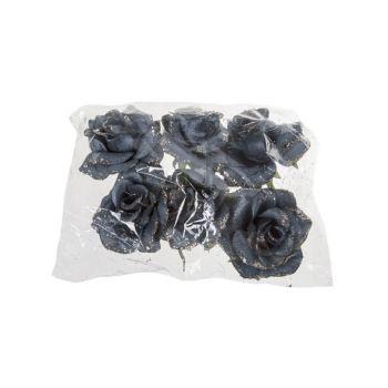 Cosy @ Home Rose Klammer Set6 Jeans Blau Kunststoff