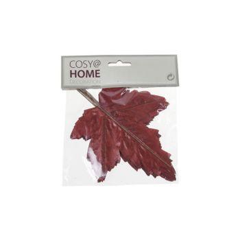 Cosy @ Home Herbstblatter Set12 Bordeaux Kunststoff