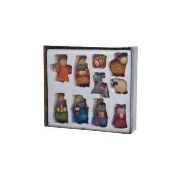 Cosy @ Home Weihnachtsfiguren Set10 Mehrfarbig Keram