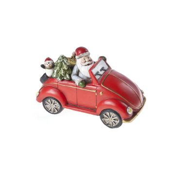 Cosy @ Home Automobil Rot Keramik 15,5x8xh10 Santa