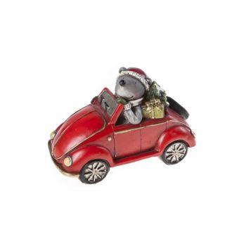 Cosy @ Home Automobil Rot Keramik 15,5x8xh10,5 Bear
