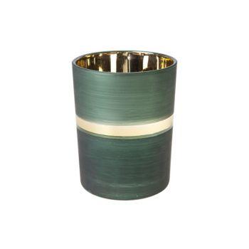 Cosy @ Home Teelichthalter Mehrfarbig Rund Glas 10x1