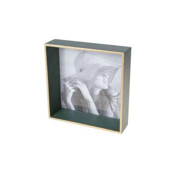 Cosy @ Home Rahmen Grun Quadratisch Holz 17,6x4,6xh1