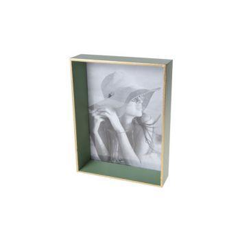 Cosy @ Home Rahmen Grun Rechteck Holz 17,6x4,6xh22,7