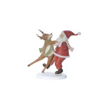 Cosy @ Home Santa Rot Polyresin 19,6x9xh18 Dancing