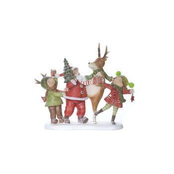 Cosy @ Home Santa Rot Grun Polyresin 25,7x8,1xh22,5