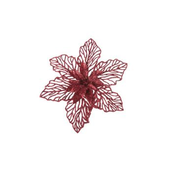 Cosy @ Home Weihnachtsstern Klammer Rot Kunststoff 0
