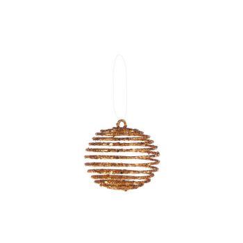 Cosy @ Home Weihnachtskugel Kupfer Kunststoff 0x0xh7