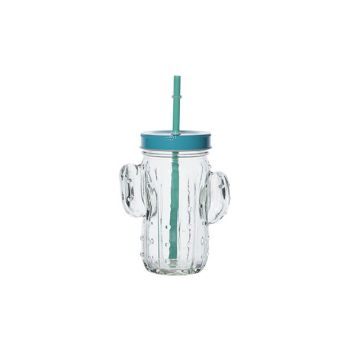 Cosy & Trendy Cactus Jar With Blue Lid