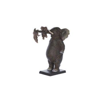 Cosy @ Home Elefant Mit Baby Schokolade Polyresin 27