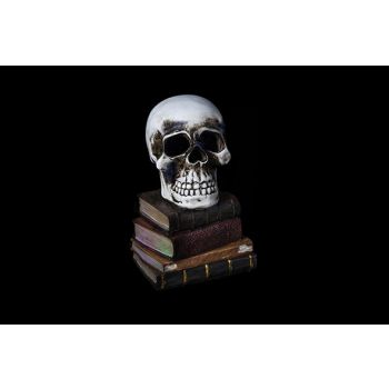 Cosy @ Home Totenkopf Grau Keramik 11x11xh17 Books