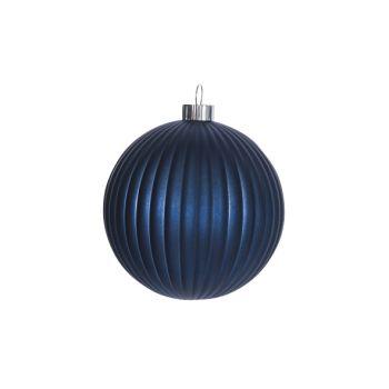 Cosy @ Home Weihnachtskugel Blau Kunststoff 15x15xh1