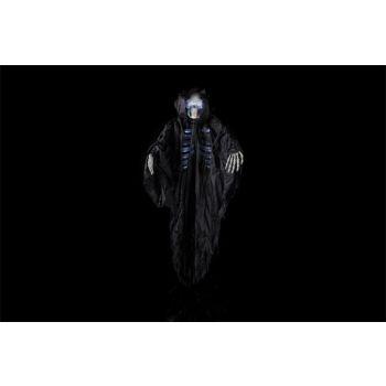 Cosy @ Home Skelett Aufhanger Schwarz Textil 125x16x