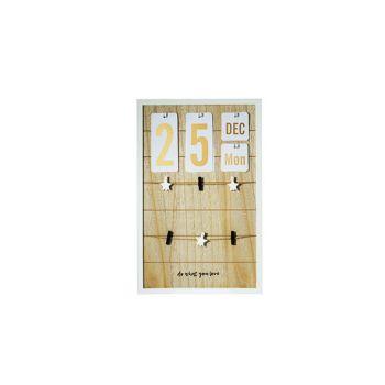 Cosy @ Home Calendar-memo Board Holz 32x3xh50cm