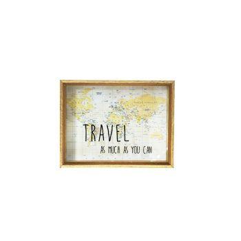 Cosy @ Home Money Box Travel Holz 26x20xh6cm