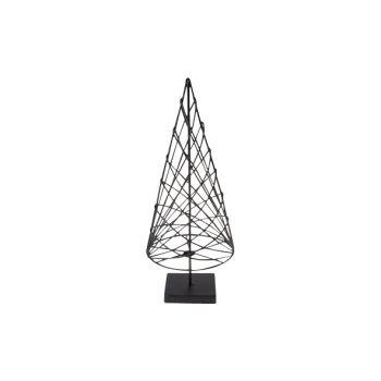 Cosy @ Home Xmas Tree Cone Metal Black 10x10x25cm