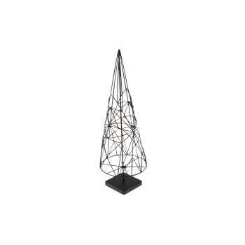 Cosy @ Home Xmas Tree Cone Metal Black 11x11x32cm