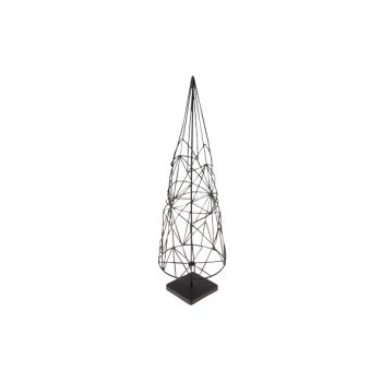 Cosy @ Home Xmas Tree Cone Metal Black 12x12x38.5cm