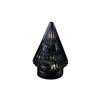 Cosy @ Home Xmas Tree Cone Glass Petrol 12x12x18cm