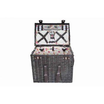 Cosy & Trendy Picnic Basket4p-4xcutlery-wine Glass-