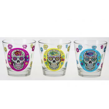 Cerve Mexican Skull Nadia 25cl 3 Types Glass